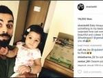 Virat Kohli clicks a selfie with Harbhajan Singh's daughter