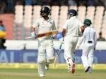 Virat nears double century, Rahane departs for 82