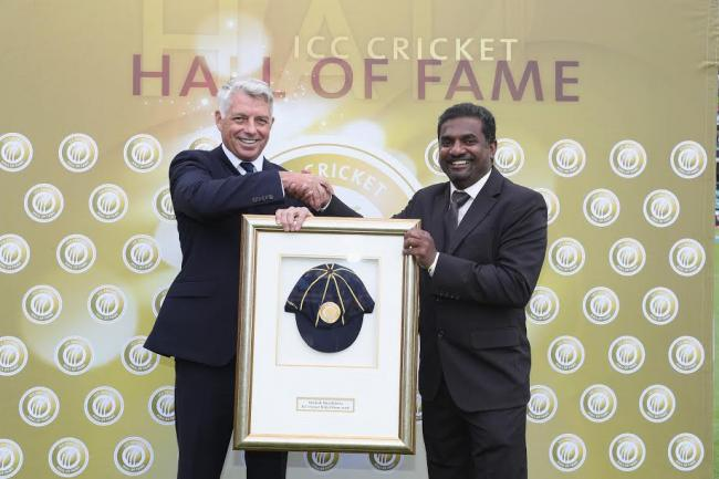 Muralidaran formally inducted into ICC Cricket Hall of Fame