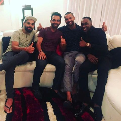 Indian players spend time at Dwayne Bravo's house