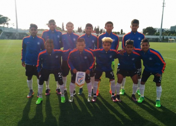 Indian U17 WC team play out draw against SL Benfica
