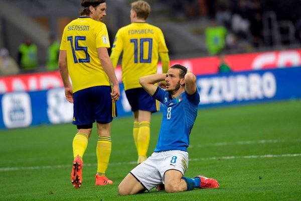 Italy lose to Sweden, fails to qualify for FIFA World Cup 2018