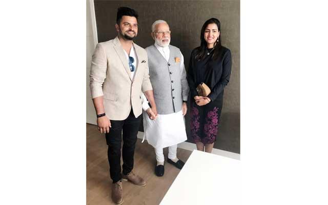 Suresh Raina meets PM Modi in Netherlands