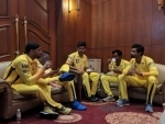 Harbhajan Singh gearing up to play IPL for CSK, meets new colleagues