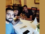 After victory against England, Virat Kohli spends time with teammates