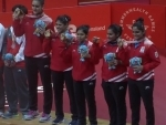 Indian women Table Tennis team beat Singapore to clinch gold