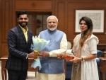 Ravindra Jadeja meets Indian PM Narendra Modi, describes it as a 'proud moment'