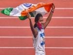 Asian gold medalist Swapna Barman accorded red carpet welcome at Kolkata airport