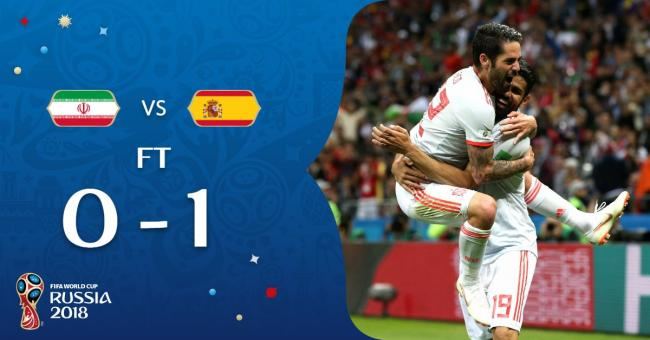 Diego Costa's goal helps Spain beat Iran 1-0