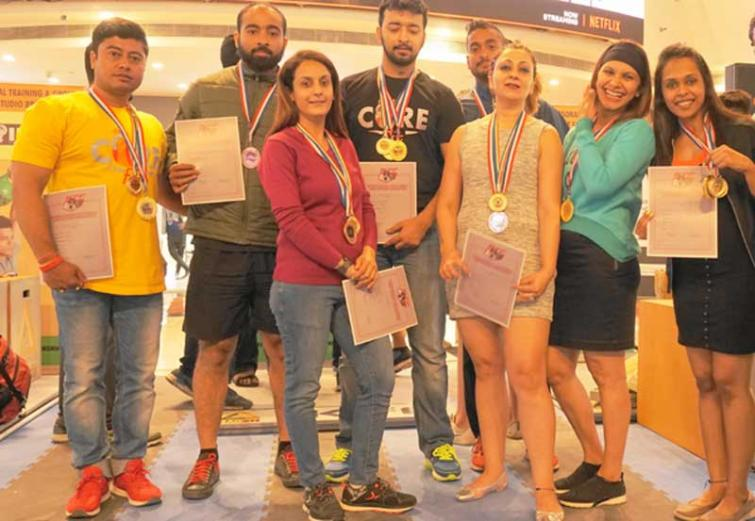 Team CoreFit from Kolkata impresses at the IKFF Delhi Kettlebell Championship 2019