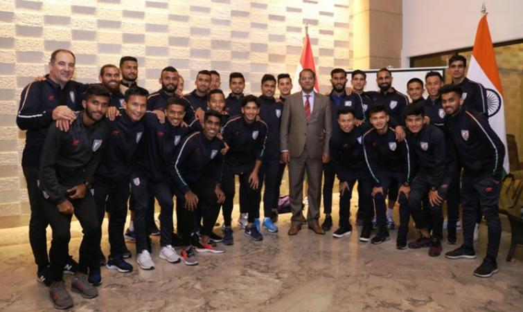 Indian ambassador to Tajikistan wishes luck to Blue Tigers before Oman clash