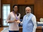 'Champion' PV Sindhu meets Indian PM Narendra Modi