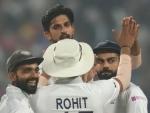 Pink Test: Ishant Sharma's fiery spell leaves Bangladesh struggling at 7/2 at Tea Break