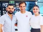 Virat Kohli, Anushka Sharma enjoy Australian Open, click picture with Roger Federer