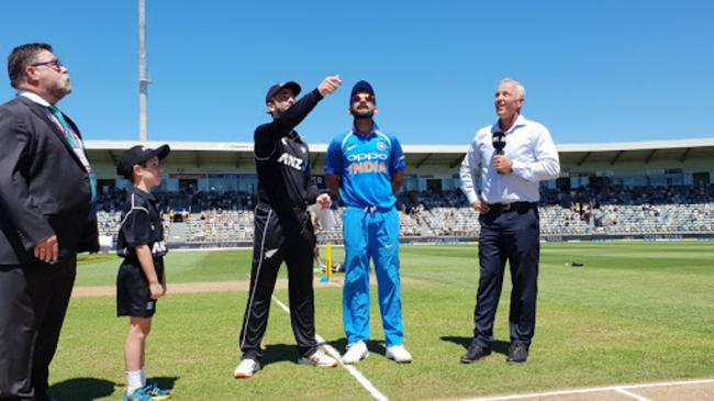 New Zealand win toss, opt to bat first against India in first ODI