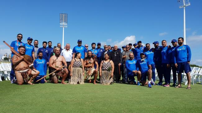 Bay Oval: Maori Community welcomes Indian Team in their traditional way