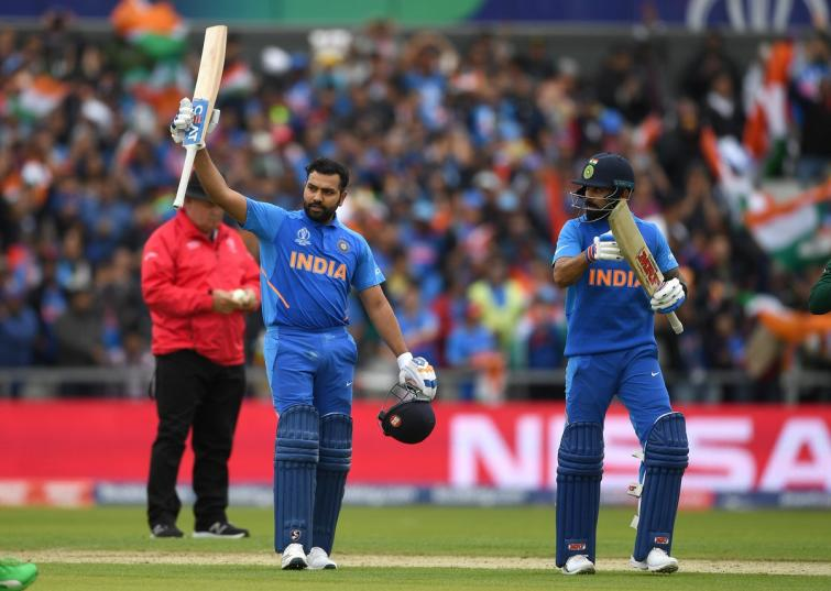 Rohit Sharma's 140 helps India post 336/5 against Pakistan in rain-hit World Cup clash