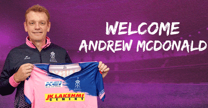 IPL side Rajasthan Royals rope in former Australia cricketer Andrew McDonald as head coach