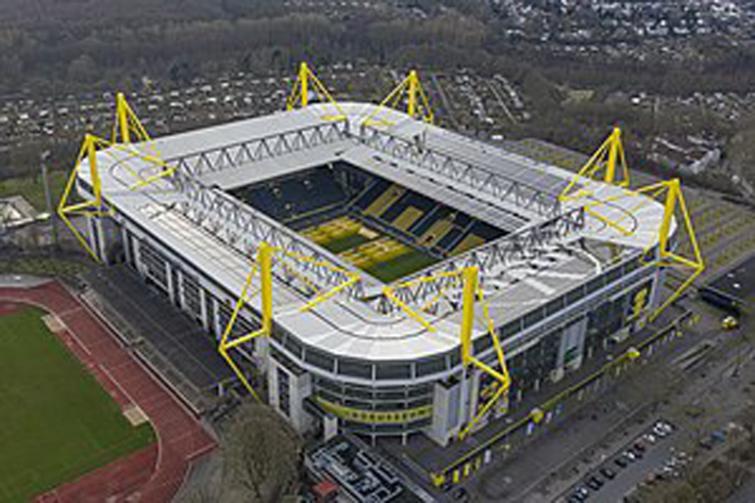 Dortmund stadium converted into COVID-19 testing center