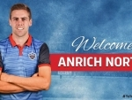 Delhi Capitals name Anrich Nortje as Chirs Woakes' replacement