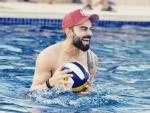 Virat Kohli enjoys in pool ahead of IPL 2020