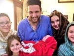 Shahid Afridi becomes father for fifth time, shares image of his daughter
