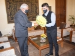 BCCI president Sourav Ganguly meets Bengal Governor Jagdeep Dhankar, offers for a visit to Eden Gardens