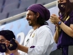 Shah Rukh Khan enjoys KKR's win against RR in IPL 2020