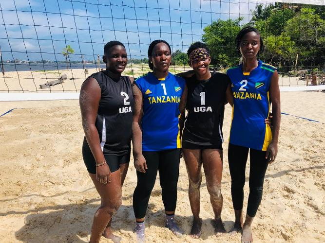 Mozambique defeat hosts Uganda in Olympic qualifier of women's beach volleyball
