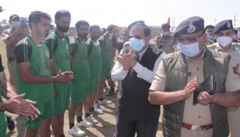 R R Bhatnagar inaugurates Bandipora Sports festival
