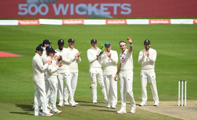 Broad takes his 500 wickets in Test as England easing towards series win against Windies
