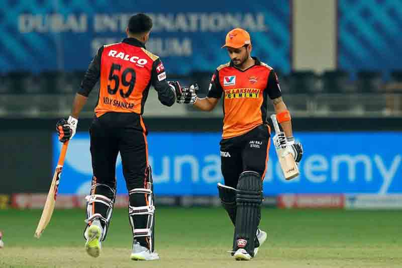 IPL: Pandey, Shankar guide SRH to 8-wicket win over RR