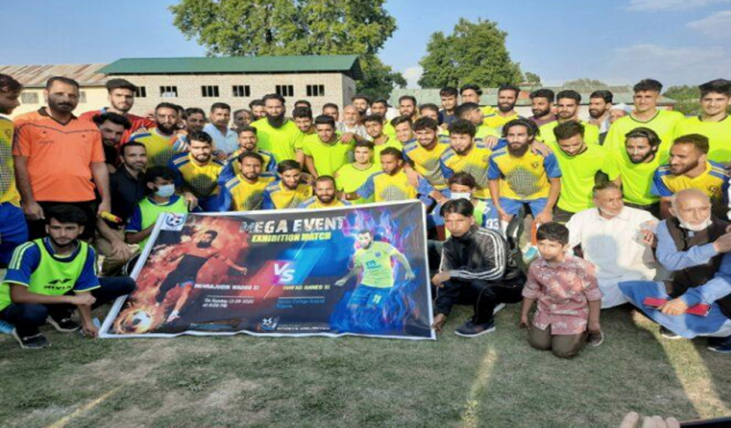 Jammu and Kashmir: Exhibition football match played in Sopore