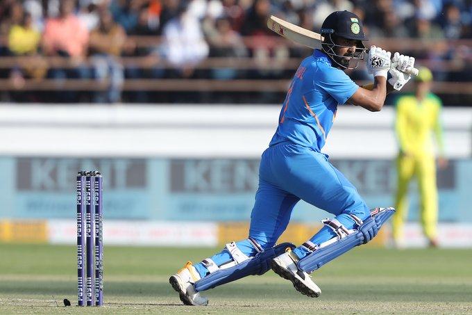 Dhawan, Virat Kohli, KL Rahul shine as India post 340/6 against Australia in Rajkot ODI