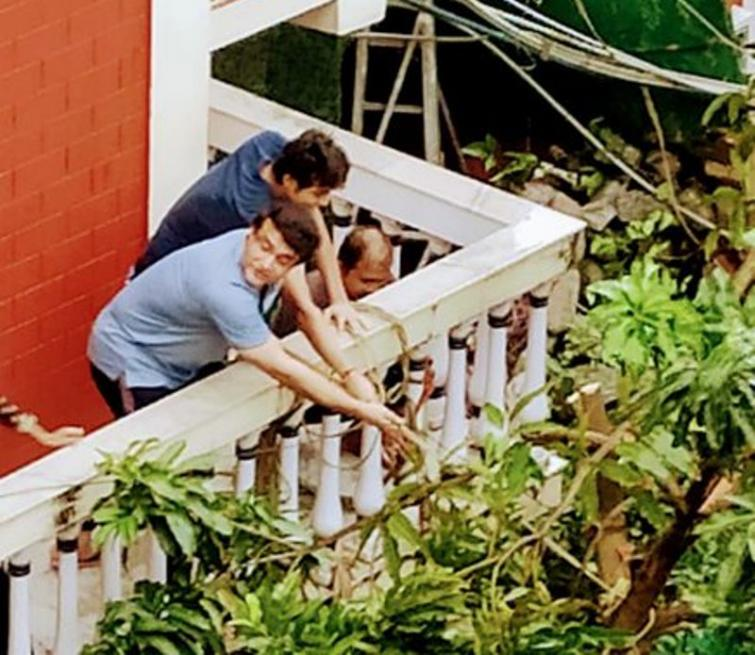 Cyclone Amphan: Sourav Ganguly shares image where he exerts 'strength at its highest'
