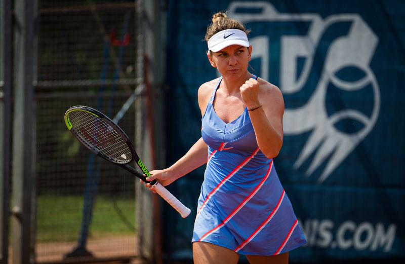 Top seed Simona Halep fights into Prague Open second round