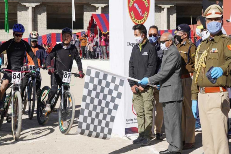 Jammu and Kashmir: LG Mathur flags off Ultimate Ladakh Cycling challenge rally