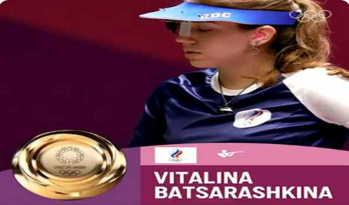 ROC shooter Batsarashkina wins women's 10m air pistol at Tokyo Olympics
