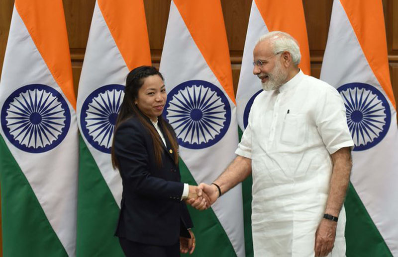 Narendra Modi speaks to Tokyo Olympics silver medalist Mirabai Chanu, congratulates her