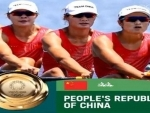 China wins gold in women's quadruple sculls in Tokyo Olympic 2020 rowing regatta