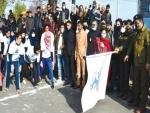 Jammu and Kashmir: White Globe, J&K Police organise short marathon for girls