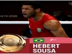 Brazilian boxer Sousa surprises Khyzniak with a KO to win men's middle gold