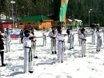Jammu and Kashmir: Martial Arts display in snow at Pahalgam