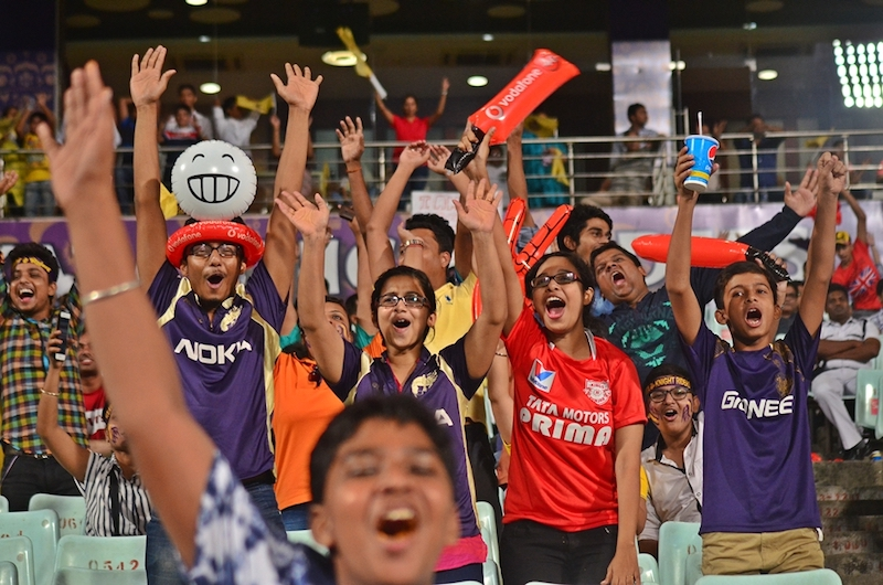 Cheering crowd in an IPL match in the past. Image by Avishek Mitra