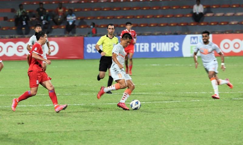 Sunil Chhetri's late strike earns India first win at SAFF Championship in Maldives