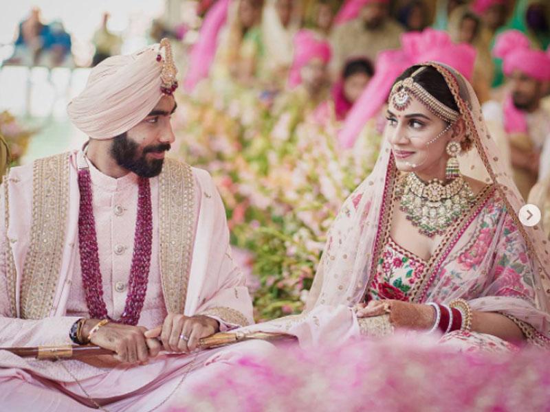 Indian pacer Jasprit Bumrah marries Sanjana Ganesan