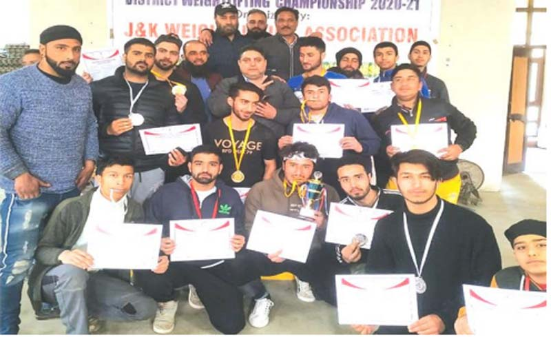 Jammu and Kashmir: Srinagar Weightlifting Championship held