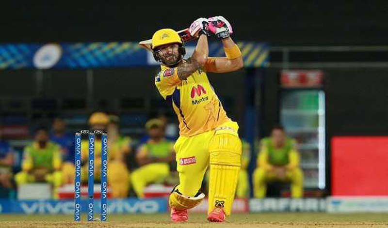 IPL Challenge: Faf du Plessis, Gaikwad hit fifty runs as they power CSK to 220/3 against KKR