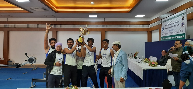 Calcutta Rowing Club and Bengal Rowing Club emerged champions in 1st state indoor rowinbg meet