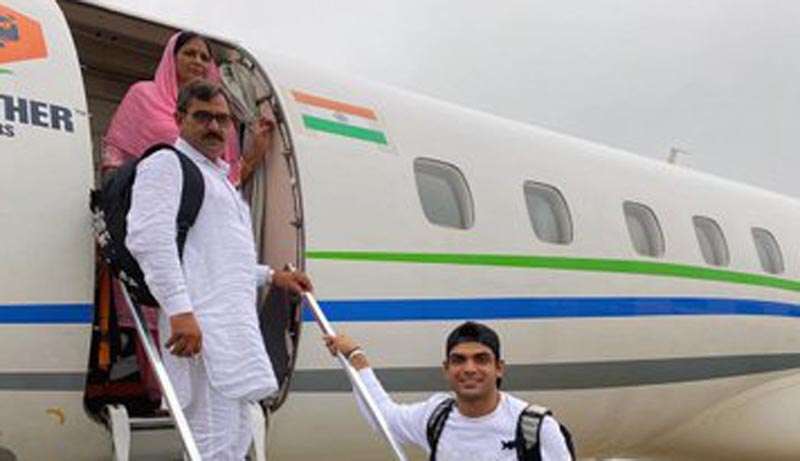 Neeraj Chopra fulfills his dreams by gifting parents their first flight